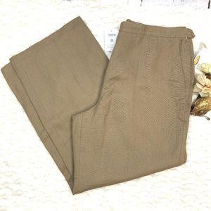 Talbots Irish Linen Tan Trouser Pants NWT